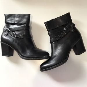 new concept d3f7e a553c Tamarisk Black Leather Boots w/ Heel NWT